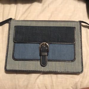 MK denim wristlet new w/o tag
